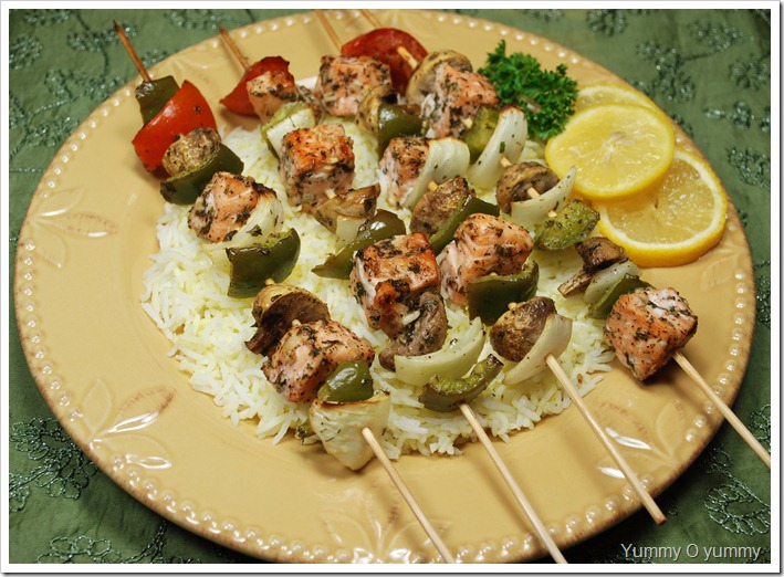 Fish and Vegetable Skewers