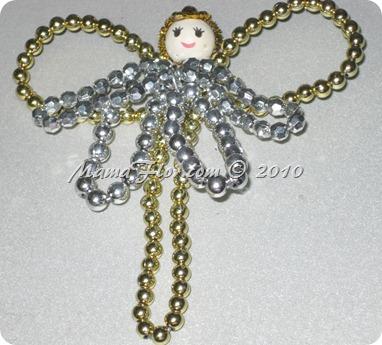 Angelito de Perlas para el Arbol Navideño 0242