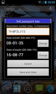 eCL0WN: an NFC passport tool - screenshot thumbnail