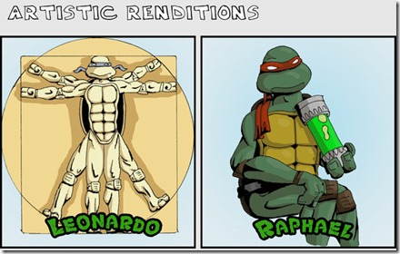 ninja turtles as classical art