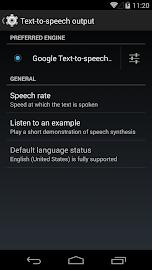 Google Text-to-speech Screenshot 1
