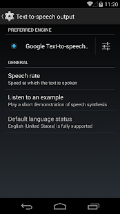 Google Text-to-speech- screenshot thumbnail