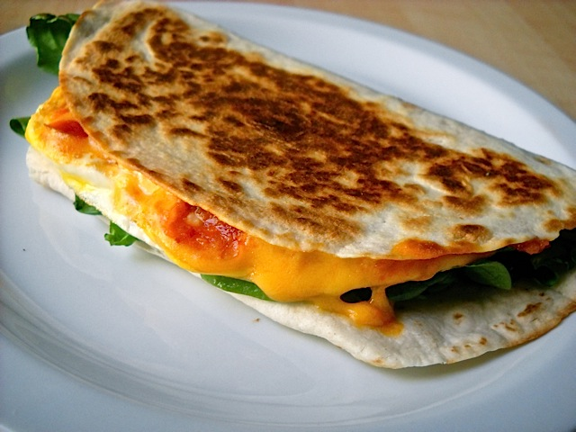 cooked quesadilla