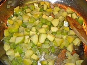 onions, apples, celery