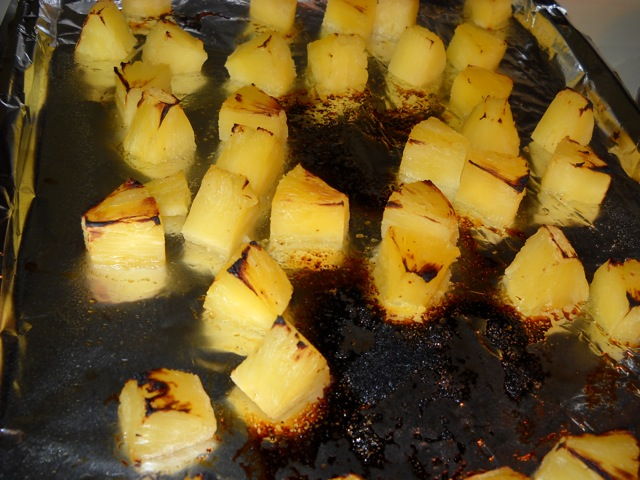 broiled pineapple