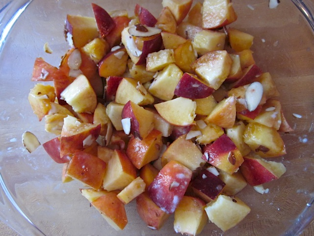 peach mixture (peaches, corn starch, lemon and almond extract)