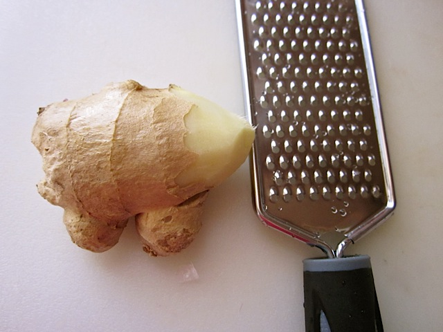 ginger and grater