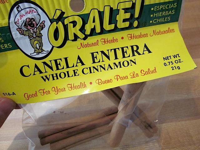 cinnamon sticks in packaging
