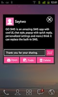 Screenshot of GO SMS Pro WP8 PinK ThemeEX
