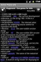 Screenshot of Active Phone Info
