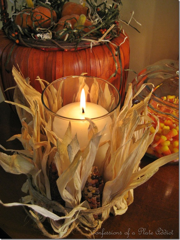 CONFESSIONS OF A PLATE ADDICT Pottery Barn Inspired Indian Corn Candle