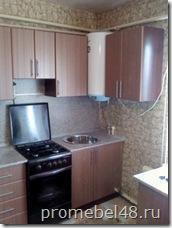 кухня в частный дом с газовой колонкой