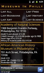 Museums In Philly- screenshot thumbnail