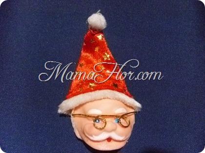 Colgante de Papá Noel » Manualidades Navideñas