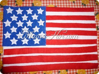 Como Hacer La Bandera De Los Estados Unidos Ee Uu Usa Manualidades Mamaflor