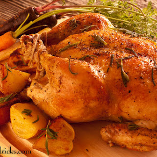 Perfectly Roast Chicken with Lavender.