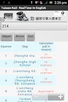 Screenshot of Taiwan Railways - English