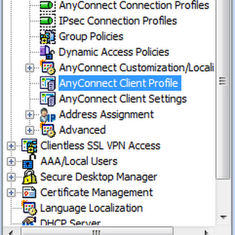 Working with Cisco AnyConnect 2.5 Client Profiles