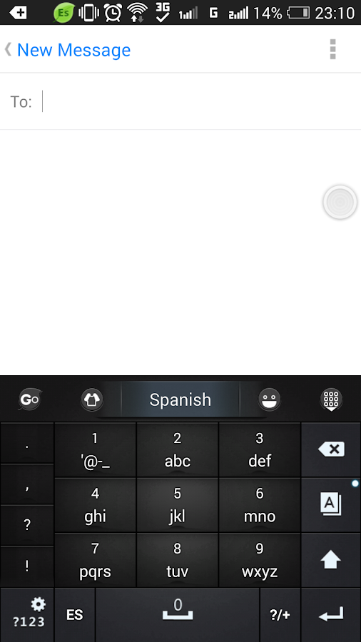 Spanish Language - GO Keyboard - screenshot