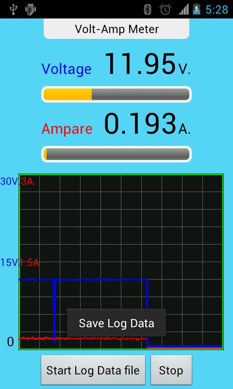 IOIO Volt Amp Meter - screenshot