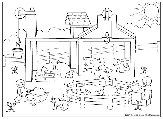 Imagenes Infantiles De Animales De Granja Para Colorear