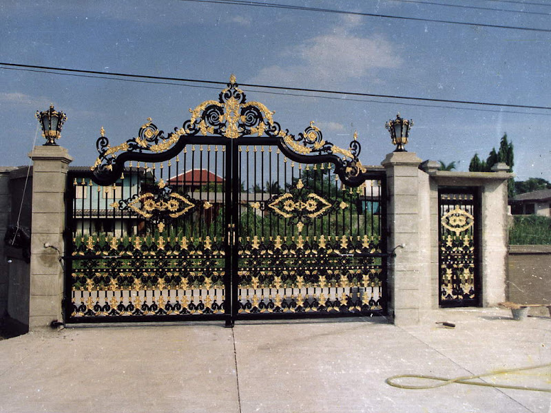Front Elevation Gate Design : Iron gates design gallery images kerala home