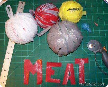 plarn with meat