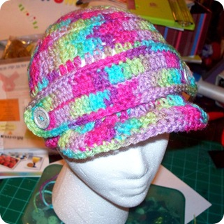 brimmed rainbow hat 2