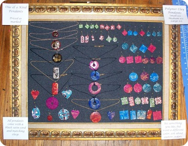 craft show display - pendants