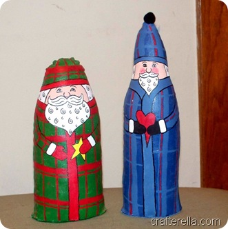 plaid santa dolls