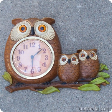 owl clock finished