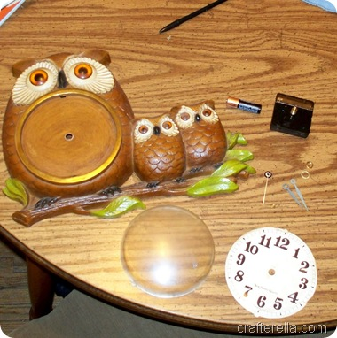 owl clock during