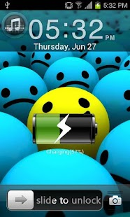 Smiley Go Locker EX Theme - screenshot thumbnail