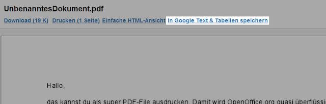 In Google Docs importieren