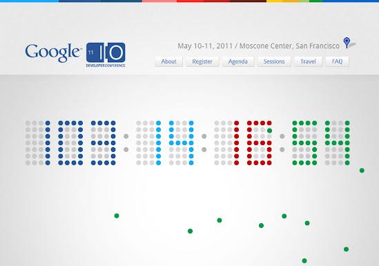 Google I/O Webseite