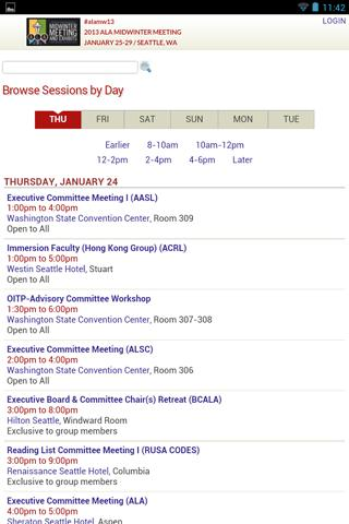 2013 ALA Midwinter Meeting - screenshot