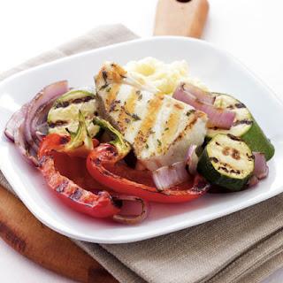 Mediterranean Seafood Grill with Skordalia