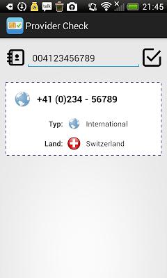 Provider Check - screenshot