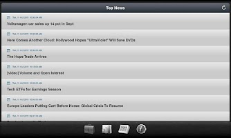 Screenshot of Stock Pulse for Tablets