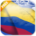 3D Colombia Flag LWP icon