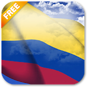3D Colombia Flag LWP