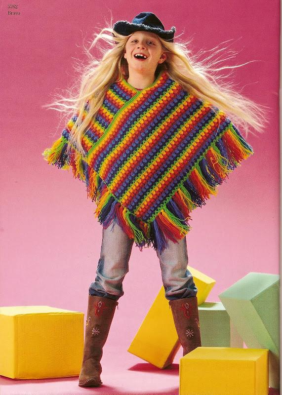 Комментарий: вязание ажурного пончо крючком.