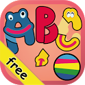 Kids ABC letters free puzzles icon