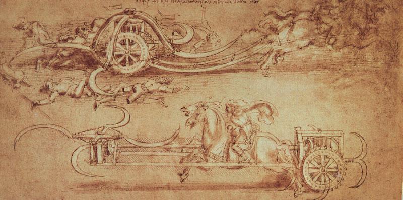 Leonardo da Vinci assault chariot