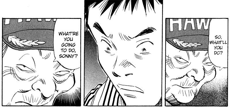 Kamisama confronts Kenji 20th Century Boys