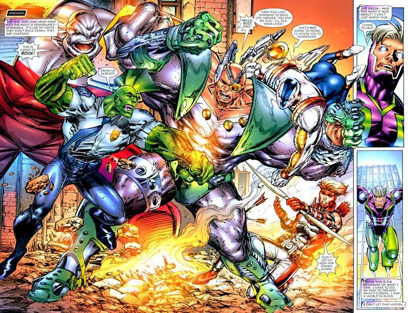 IMAGE UNITED #1 splash page battle