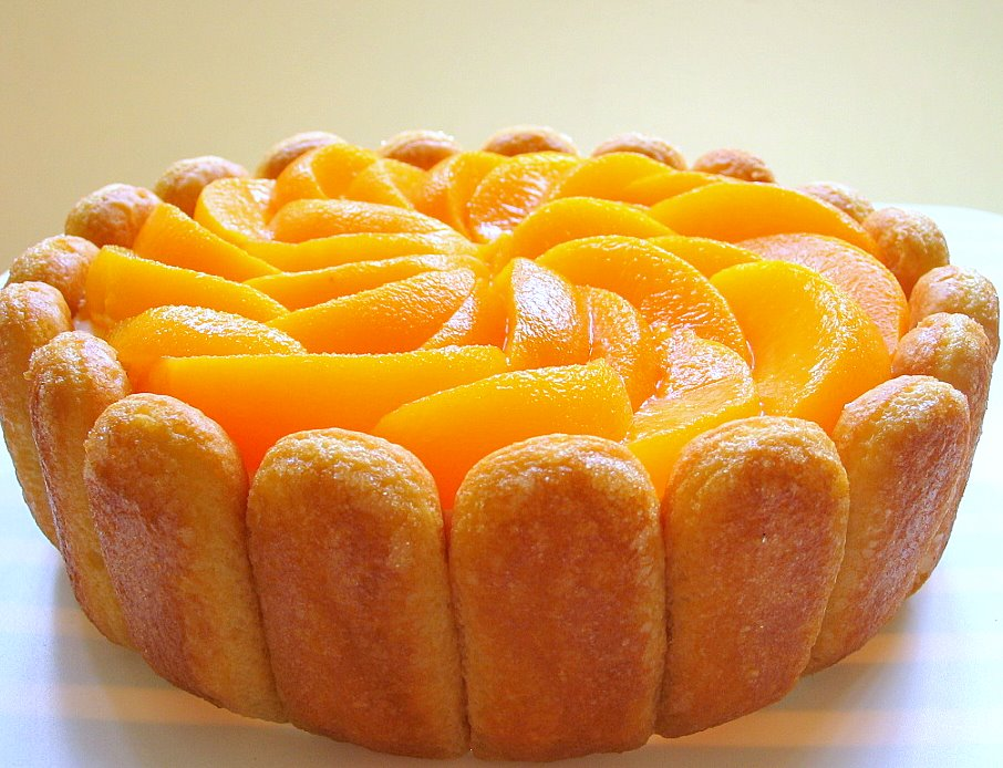 Peach Mango Mousse Cake Recipe