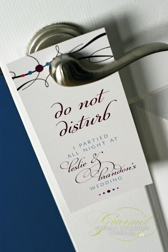 Do Not Disturb Sign for a Wedding Welcome Kit