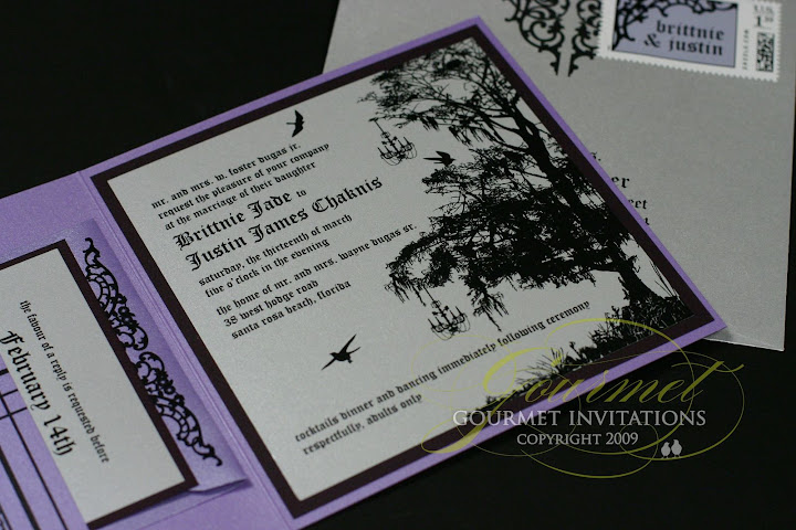 Brittnie Justin Tim Burton Inspired Wedding Gourmet Invitations