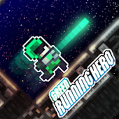Green Running Hero